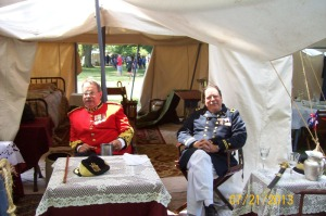 Dana Russell, Lt. Colonel Royal Engineers (Obs.) and Naval Commander Tim Graham