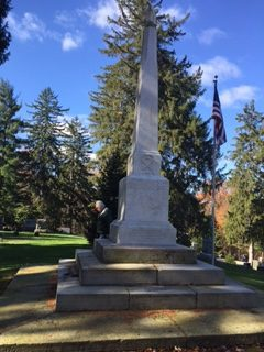 Civil War Monument at Evergreen Cemetery.